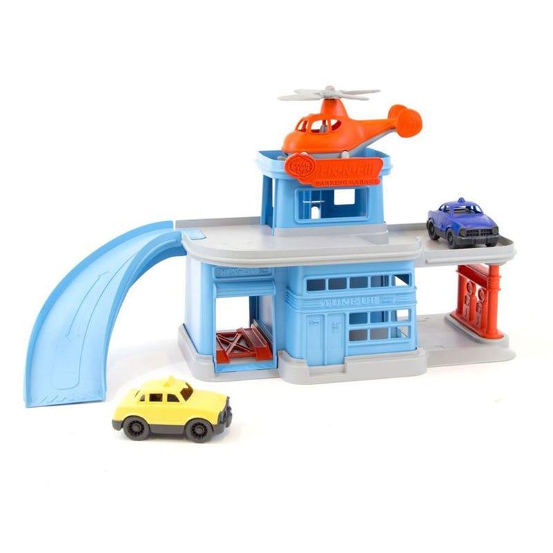 Garage avec Hélicoptère Voitur