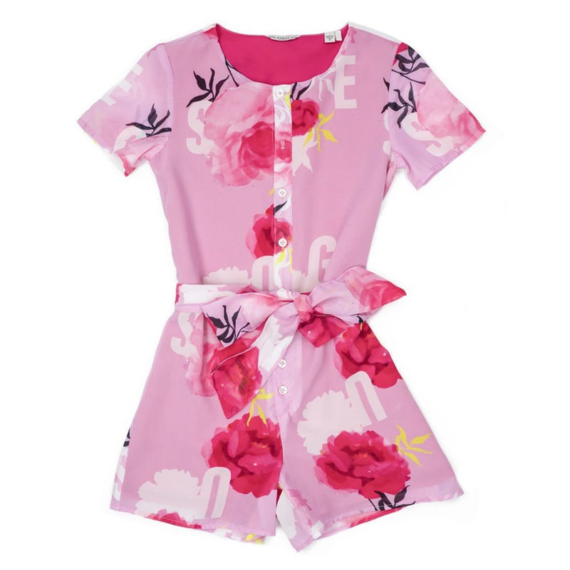 Woven Short Sleeves Dress 7-14y