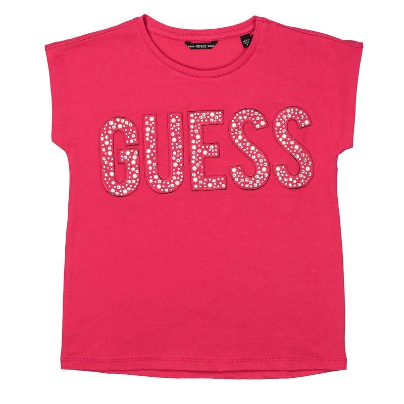 T-Shirt Strass Fleurs 7-14ans