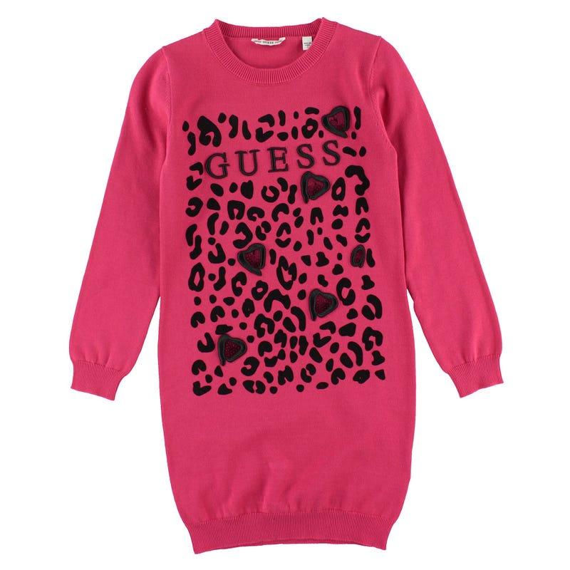 Feline Knit Dress 7-14y