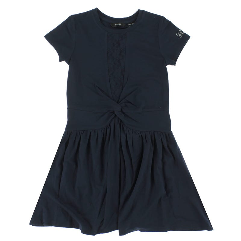 Navy Lace Dress 7-14y