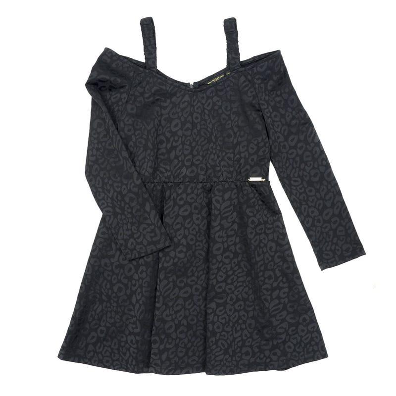 Long Sleeves Jacquard Dress 7-14y