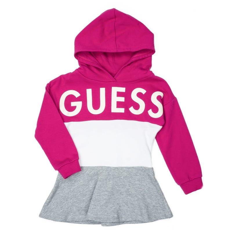 Hooded Fleece Long Sleeves Dress 2-6x