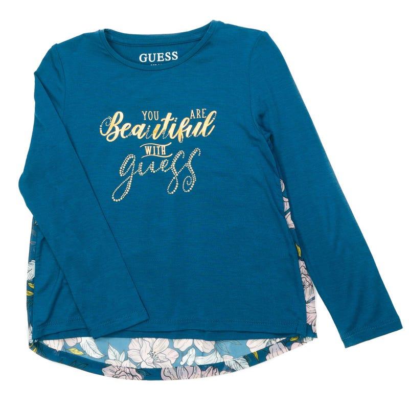 T-shirt Manches Longues Florale 2-6x