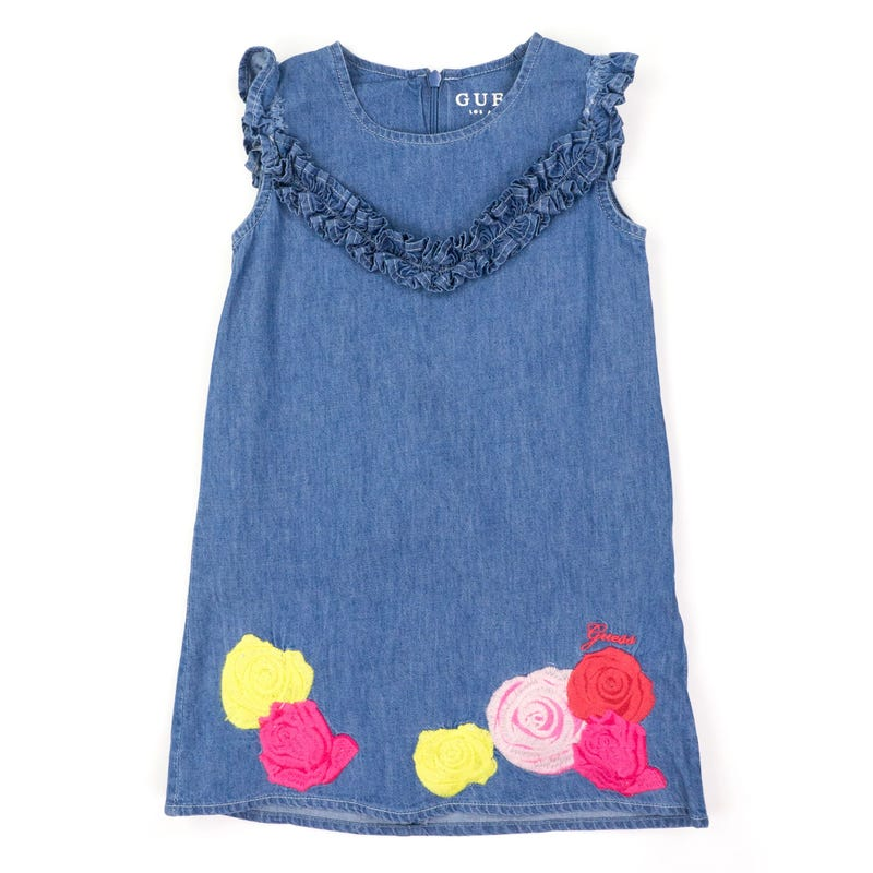 Robe Denim Broderie 2-7ans