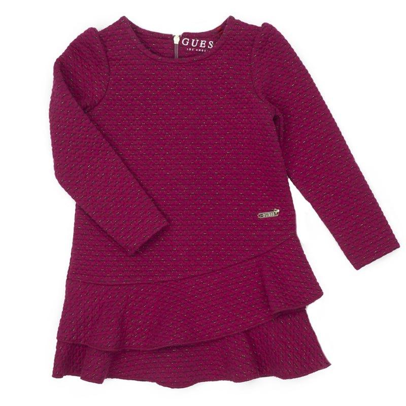 Jacquard Long Sleeves Dress 2-6y