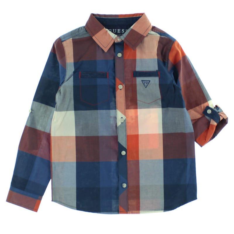 Plaid Long Sleeve Shirt 2-6y