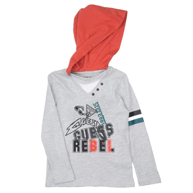 T-Shirt à Manches Longues Capuchon Rebel 2-7ans