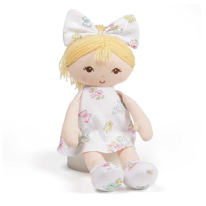 Poupée Blonde Robe Blanche