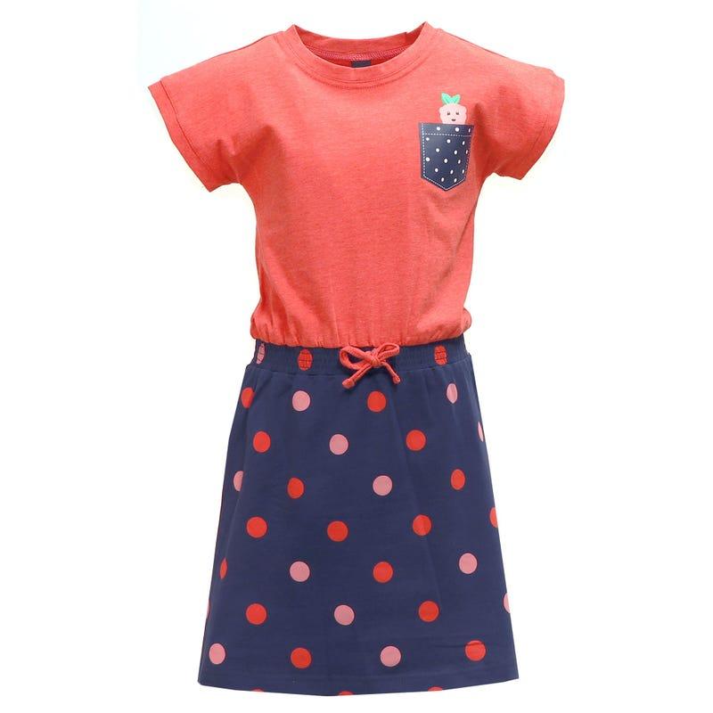 Strawberry Dots Dress 2-8y