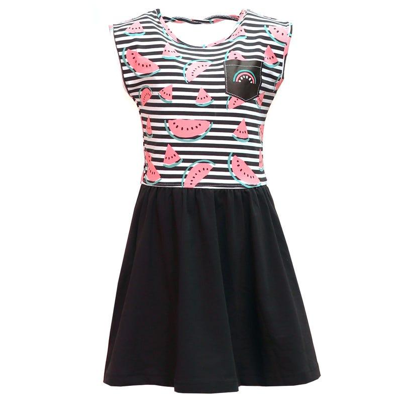 Watermelon Striped Dress 2-8y