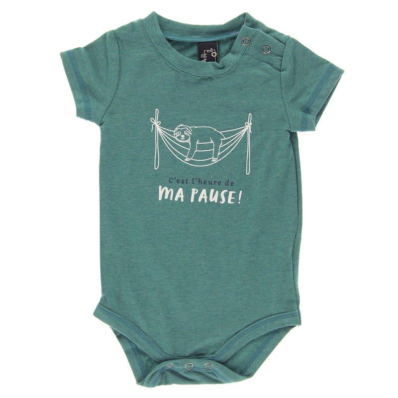 T-Shirt 1 Pièce Paresseux 3-24mois