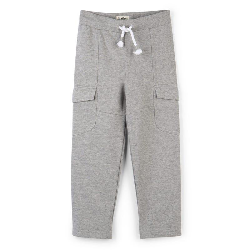 Pantalon Ouaté Cargo Gris 2-8ans