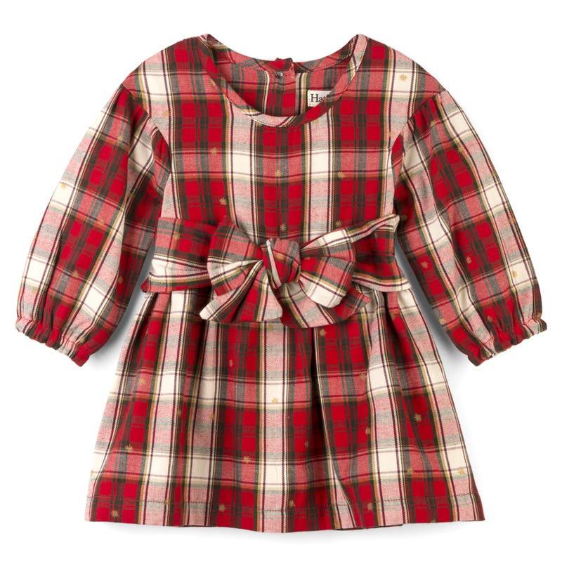 Snowflake Plaid Dress 3-24m