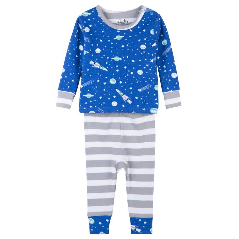 Outer Space Organic Cotton Pajama Set 3-24m