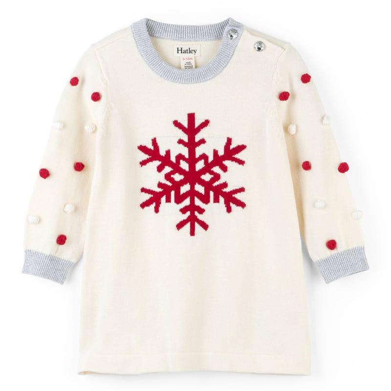 Snowflake Sweater Dress 3-24m