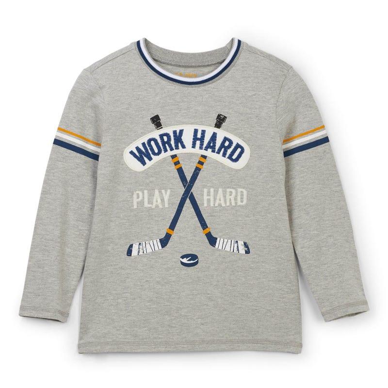 T-Shirt à Manches Longues Hockey Dinosaure 2-8ans