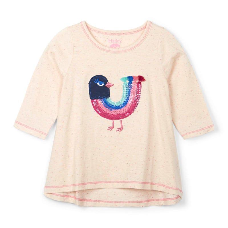 T-Shirt à Manches Longues Oiseau Forêt 2-10ans