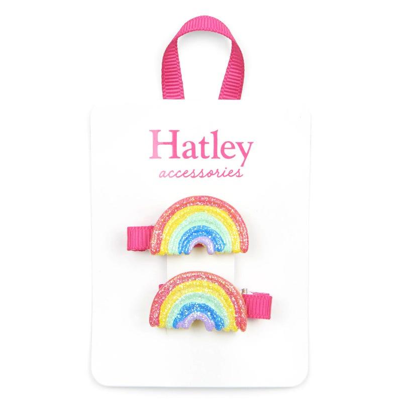 Rainbow Hair Clips 4-7y