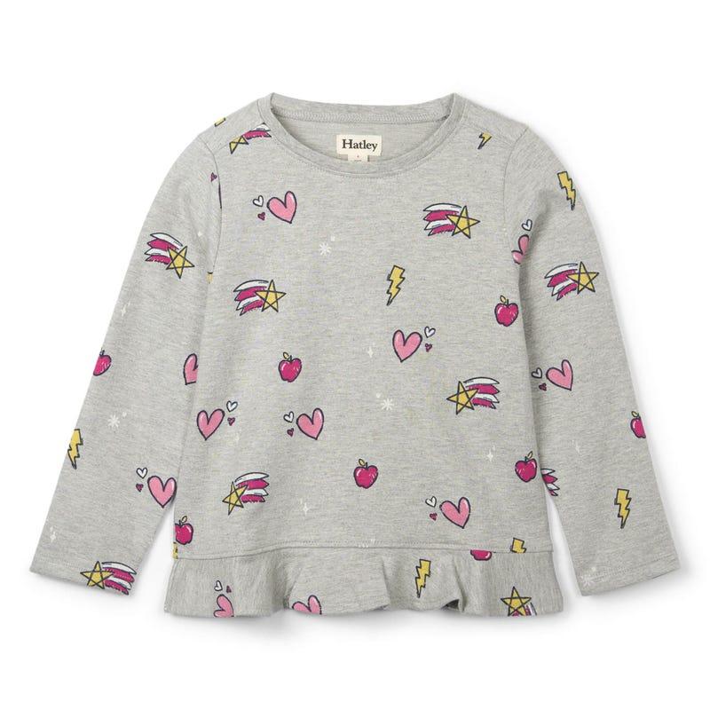 Unicorn Ls Ruffle T-Shirt 2-10