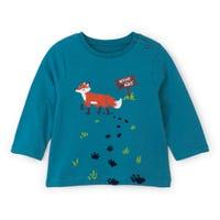 T-Shirt à Manches Longues Renard Chalet 3-24mois