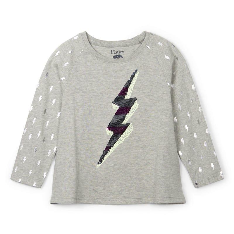T-Shirt à Manches Longues Éclair Licorne 3-10ans