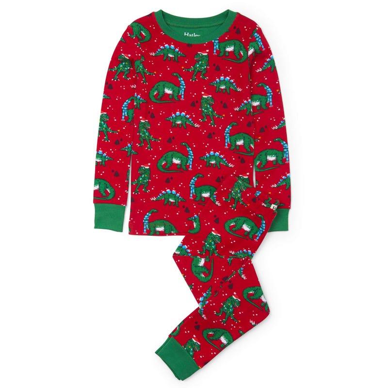 Festive Dinos Pajama 2-8