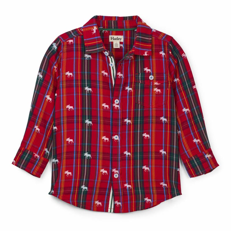 Moose Plaid Shirt 2-8