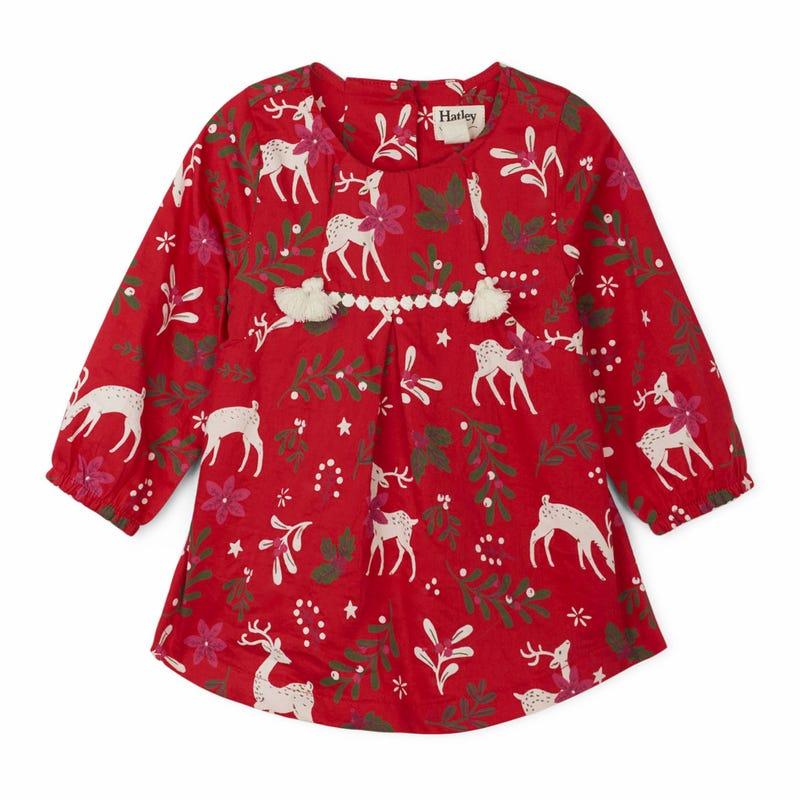 Snowflakes Deer L/Sdress 3-24m