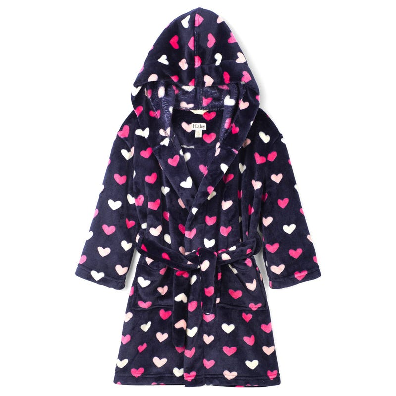 Hearts Fleece Robe 2-12