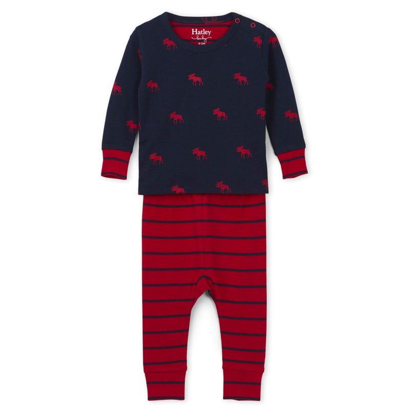 Moose Pajama 3-24m