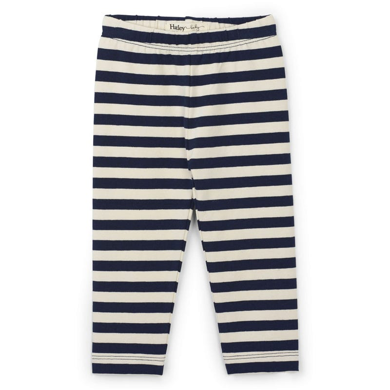 Birds Striped Leggings 3-24m