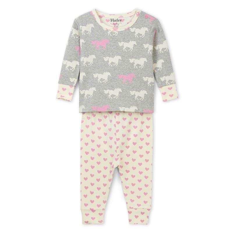 Horses Pajama 3-24m