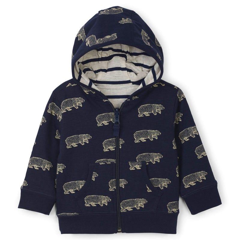 Cabin Bear Zip Hoodie 3-24m