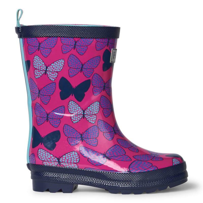 Butterflies Rain Boots 4-13