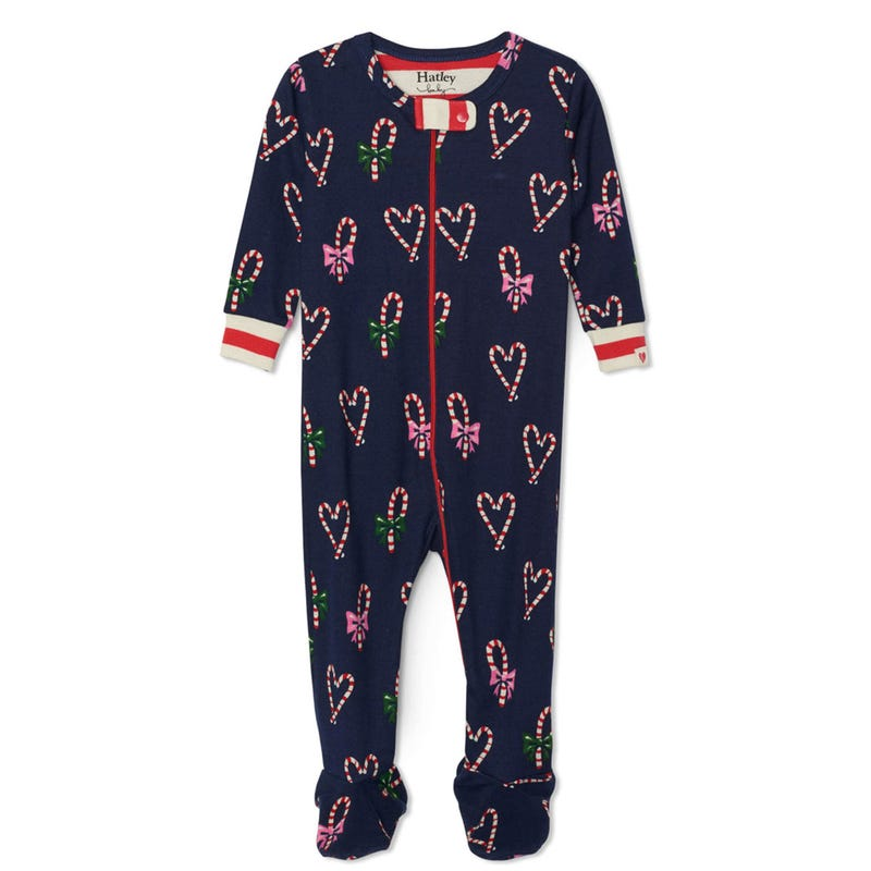 Candy Cane Hearts Pajamas 3-24m