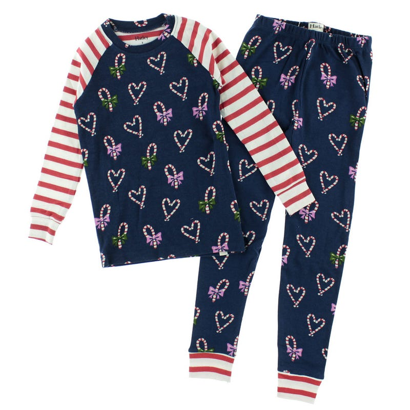 Candy Cane Hearts Pajamas 3-10