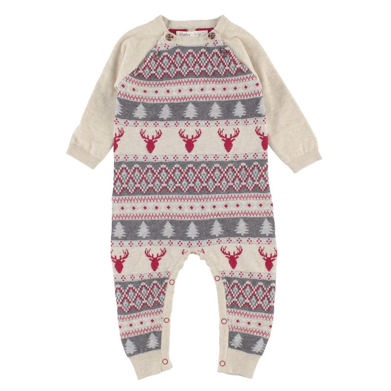 Deer Sweater Romper 3-24m