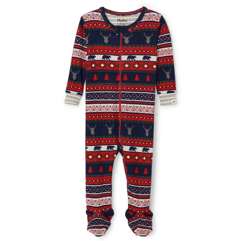 Fair Isle Stags Pajama 3-24m