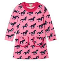 Heart Unicorn Dress 3-8