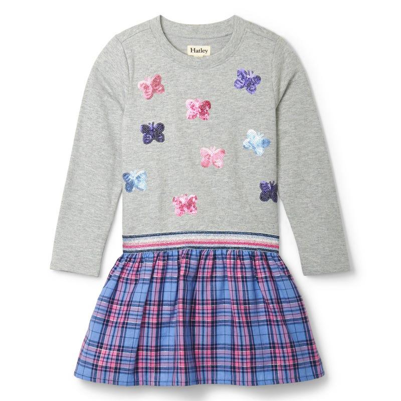 Rainbow Butterfly Dress 3-8