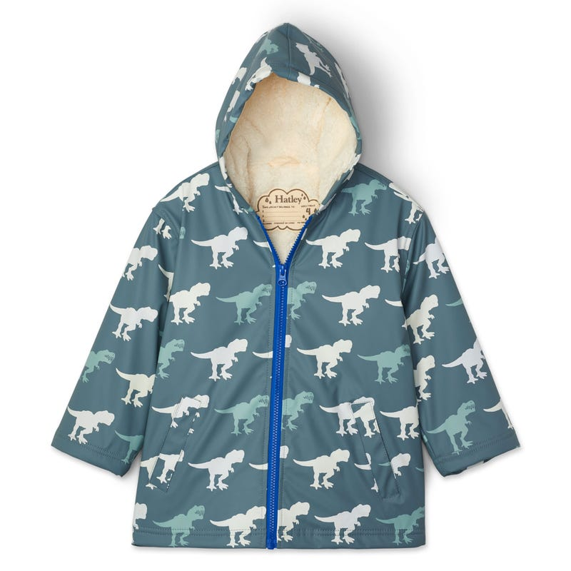 T-Rex Sherpa Raincoat 3-8