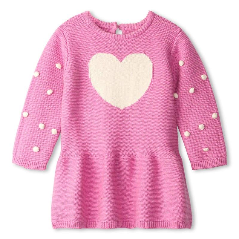 Animal Heart Sweater Dress 9-24m