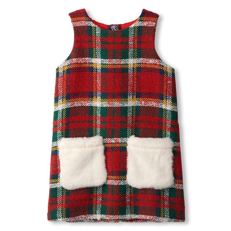 Chic Tartan Pocket Dress 2-8y