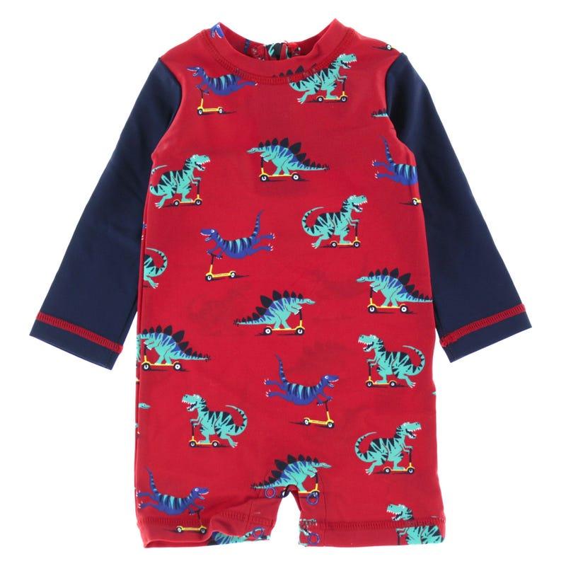 Dino Uv Long Sleeve Swimsuit 3-24m