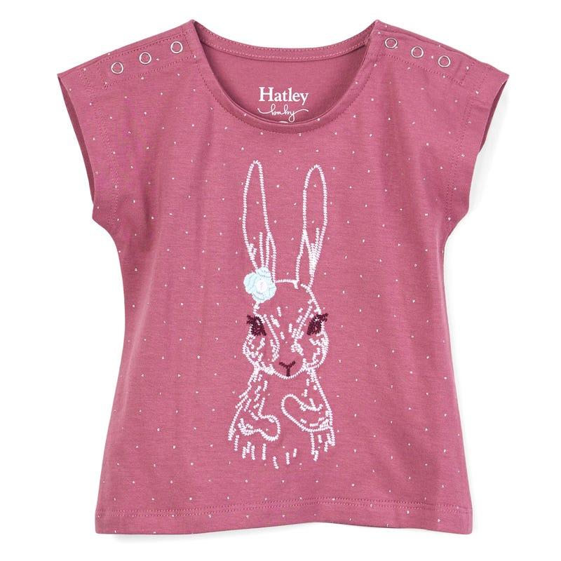 Pretty Bunny Tee 3-24m