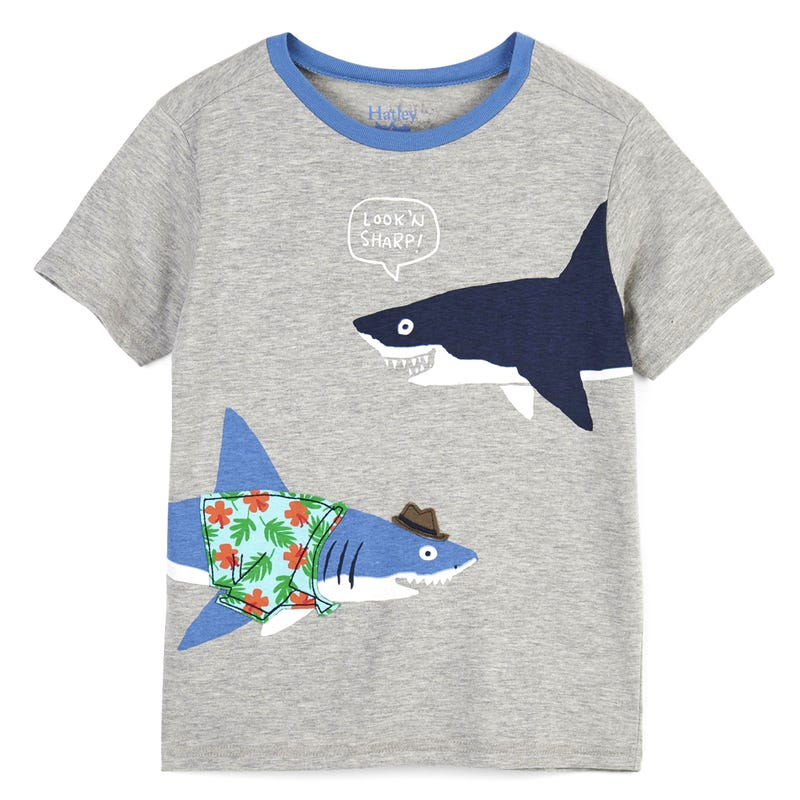Sharp Dressed Shark Graphic Tee 2-8y