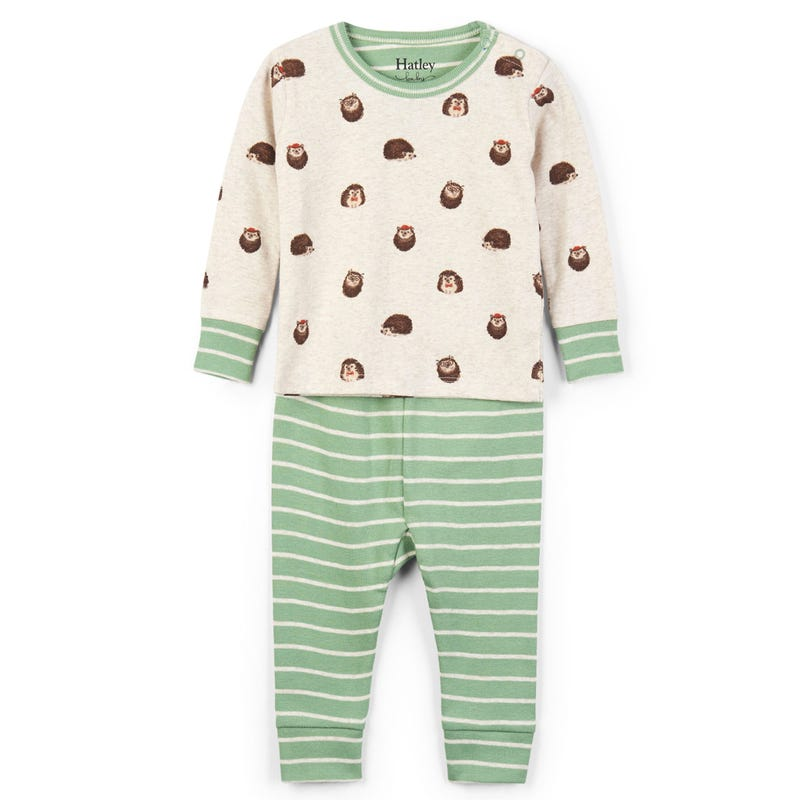 Huggable Hedgehogs Organic Cotton Pajama Set 3-24m