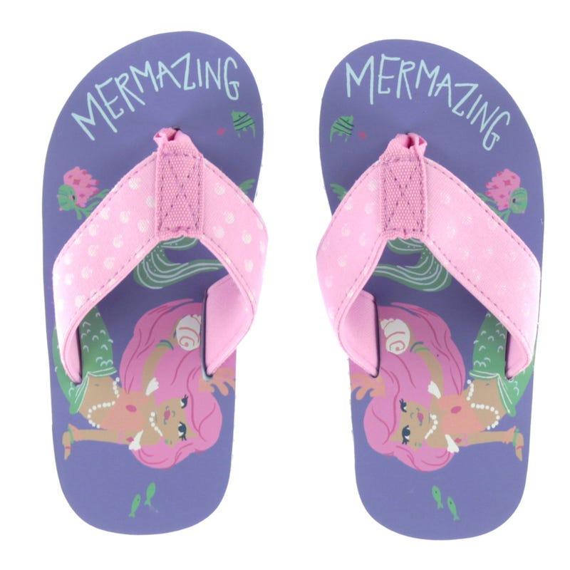 Mermaid Tales Flip Flops Sizes 7-13