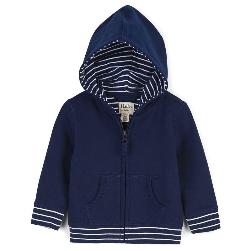 Full Zip Hoodie 3-24m - Navy